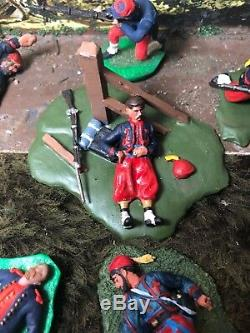 10-USA Civil War Zouaves ProPainted Plastic Figures Dead/Wounded Lot 1/32-54mm