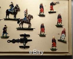 17 Toy Soldiers S A Sculptured Model Civil War Union Artillery Set #1041 with Box
