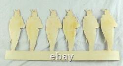 1870's-80's Die Cut Civil War Paper Toy Soldiers 2 Strip total 4 1/4 X 11 1/2
