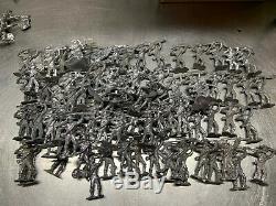 195 Rare Vintage Lead Soldiers Toy Civil War Confederate Union Figures Lincoln