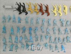 1961 Marx Giant Blue & Gray Civil War Playset Toy Soldier Battle Set Complete