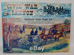 1963 Marx Civil War Large Scale Cannon Horse Artillery Model Kit New open box