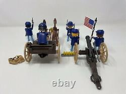 1974 Playmobil U. S. Artillerie Western Cannon Wagon & Civil War Union Soldiers