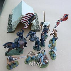 1998-2002 Britains American Civil War Metal Miniatures Figures 10 Soldiers Lot