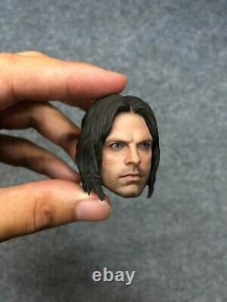 1/6 Hot Toys MMS351 Captain America Civil War Bucky Winter Soldier Head Sculpt