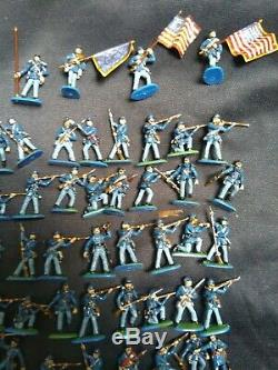 1/72 American Civil War Union infantry X 81 well painted