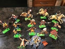 29 BRITAINS Indians & CIVIL WAR Union Confederate SOLDIERS 1971 Cavalry Horses