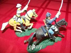 (2) Metal Civil War Cavalry Toy Soldiers, 54mm size