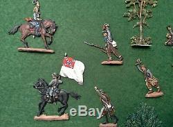 30mm Flat Zinnfiguren American CIVIL War Confederates On The March