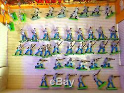 41 Britains Deetail US Civil War ACW Infantry Confederate Figures all 6 Poses