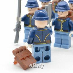 50pcs Limited Lot American Civil War Soldier North US Revolutionary War Fit Lego