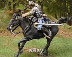 54mm Collectors Showcase CIVIL WAR CONFEDERATE Cavalry OFFICER CS00245 ACW 1/32