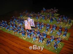 70 Painted 1/72 US Civil War Union 2 New York Infantry Regiments w Artillery Bty