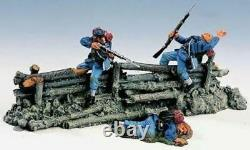 ACW06 Civil War King & Country Fence with Firing Union Soldiers