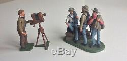 ACW Civil War Matthew Brady and Confederate Prisoners (54mm Imrie Risley)