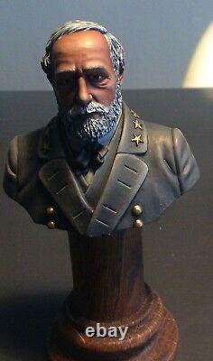 ACW Civil War St. Petersburg painted bust Robert E. Lee painter Rumientseva