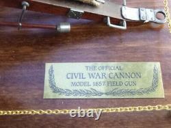 A Franklin mint, civil war cannon on display board. Model 1857 Field gun. Boxed