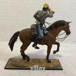 AeroArt St. Petersburg Russia Am. Civil War Mounted Confederate Bugle Soldier