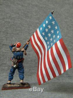 American Civil War. Zouaves with a banner North. Elite tin soldiers 54 mm