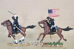 BRITAINS 17371 AMERICAN CIVIL WAR CAVALRY UNION CAPTAIN and GUIDON BEARER nv