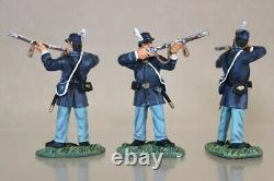 BRITAINS 17577 AMERICAN CIVIL WAR CONFEDERATE The BUCKTAILS 42nd REGIMENT SET nv