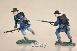 BRITAINS 17833 AMERICAN CIVIL WAR VALLEY SERIES UNION INFANTRY CHARGING SET 2 nv