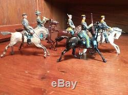 BRITAINS Lot of 5 CONFEDERATE CAVALRY CIVIL WAR