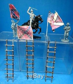 Barszo+++ 54mm Civil war union & confederate custom playset 105 figs ++used oop