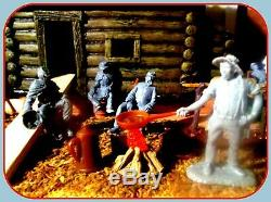Barzso CABIN ACW Civil War Camp Playset DIORAMA with MARX 54mm 132 revised set