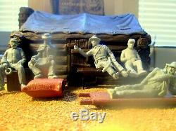 Barzso Civil War Diorama CampTent Cloth Roof 54mm 132 Original Barzo Wounded