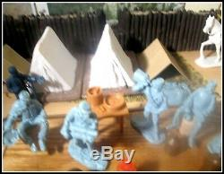 Barzso & Marx &TSSD Civil War Union Camp-54mm 10 guys 3 Tents ACCESSORIES GALORE
