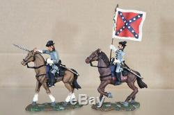 Britains 17372 American CIVIL War Mounted Confederate Captain & Colour Bearer