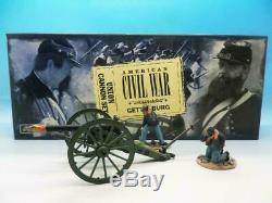 Britains 17394 American Civil War Union Cannon Gun Firing Set & Crew New