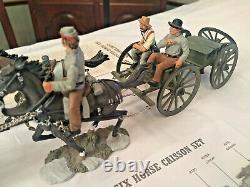 Britains 17433, 6 Horse Civil War Limber & Caisson, Confederate Artillery Series