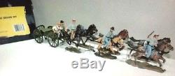 Britains 17433 Civil War Confederate 6 Horse Artillery Caisson Set NIB Retired