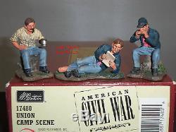 Britains 17480 Union Camp Scene American CIVIL War Metal Toy Soldier Figure Set