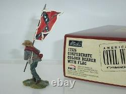 Britains 17526 Confederate Colour Bearer Walking American CIVIL War Toy Soldier