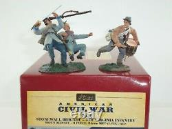Britains 17631 American CIVIL War 5th Virginia Infantry Wounded Toy Soldier Set