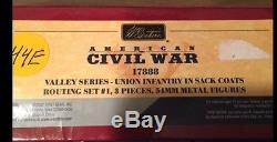 Britains 17888 civil war Union valley series Union infantry sack coats routing