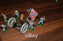 Britains 1960`s Swoppet American CIVIL War Confederate Field Gun & Crew Job Lot