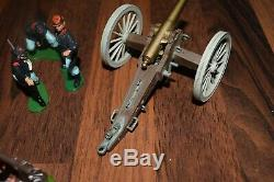 Britains 1960`s Swoppet American CIVIL War Union Field Gun & Crew Job Lot Fire