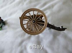 Britains 1960's Swoppets American CIVIL War Union Field Gun And Crew Pre-owned