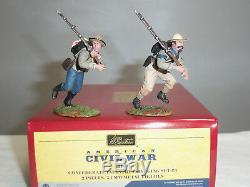 Britains 31010 Confederate Infantry Charging American CIVIL War Toy Soldier Set