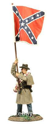 Britains 31165 Confederate Infantry Flagbearer in Winter Clothing, civil war