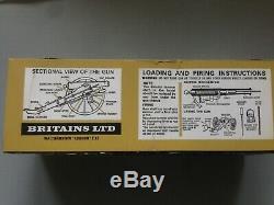 Britains 4465 Union Gun Team with Gun, boxed with ammunition A. C. W Civil War