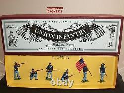 Britains 8852 American CIVIL War Union Infantry Metal Toy Soldier Figure Set