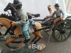 Britains ACW American Civil War Confederate 6 Horse Caisson Set 17433