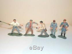 Britains American Civil War. Confederate Artillery Set. 5 Figures & Gun #17007