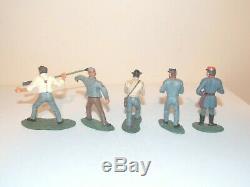 Britains American Civil War. Confederate Artillery Set. 5 Figures & Gun #17239