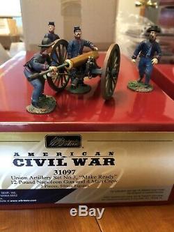Britains American Civil War Union Artillery Make Ready 5 Piece Set 31097